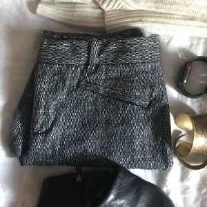 Gap Black & White Pants
